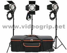 KIT 3 x Tungsten Redhead 800W - hard bag