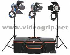 KIT Fresnel 1000W + 650W + Redhead 800W - hard bag