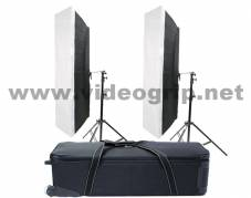 KIT 2 x FloLight 4FT 2Bank with softbox - hard bag